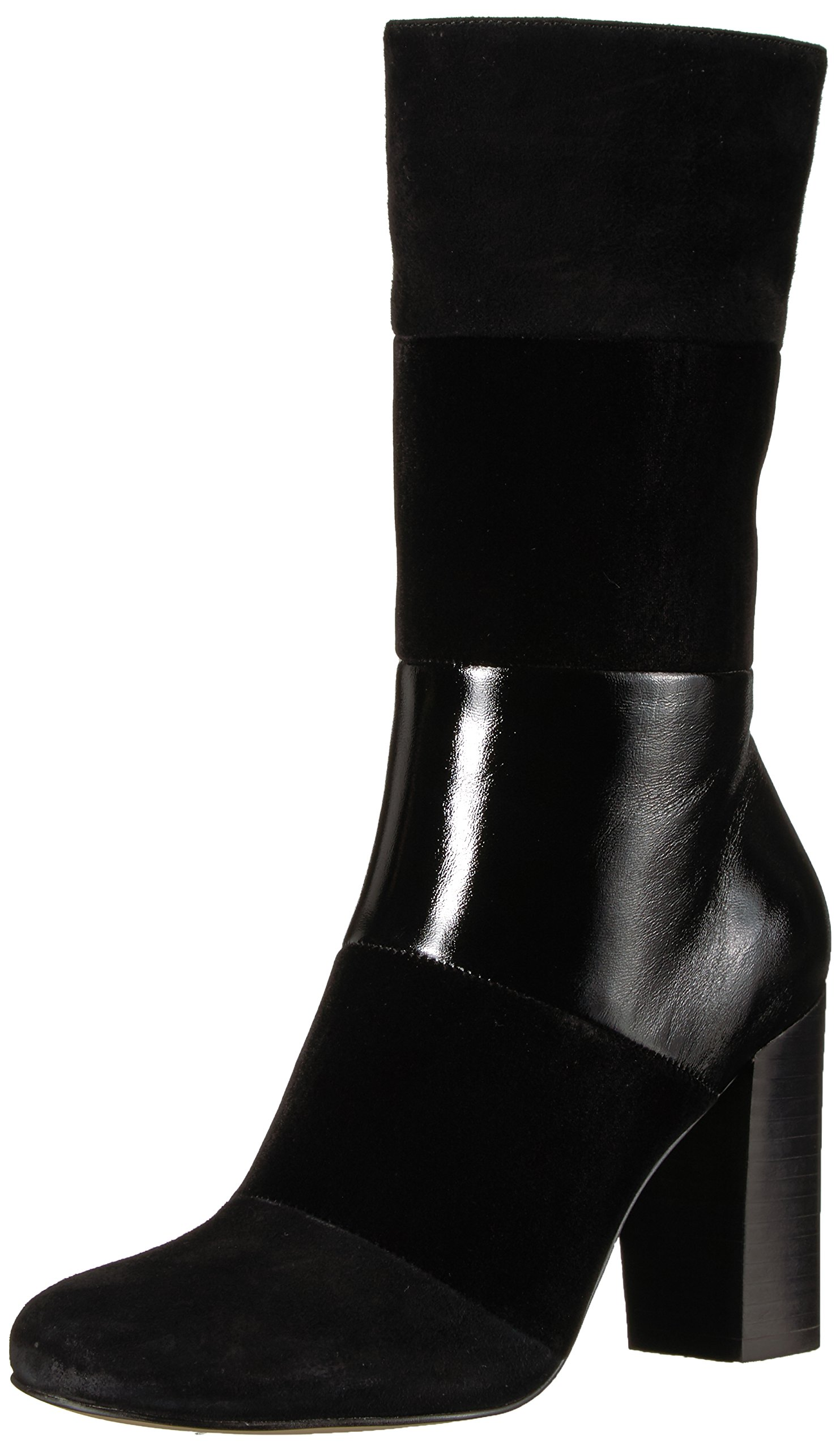 The Fix Women's Skylar Mid-Shaft Material-Block Boot, Black, 8.5 B US by The Fix (Image #1)