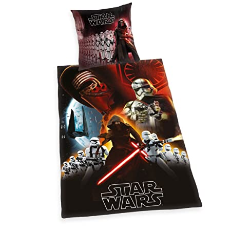 Star Wars Bed Linen Cotton Black 200 X 135 X 0 2 Cm Amazon Co Uk