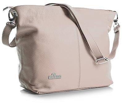 4f542e9e9986 LIATALIA Women s Medium Hobo Shoulder Bag Genuine 100% Italian Leather  Stylish   Elegant Design –