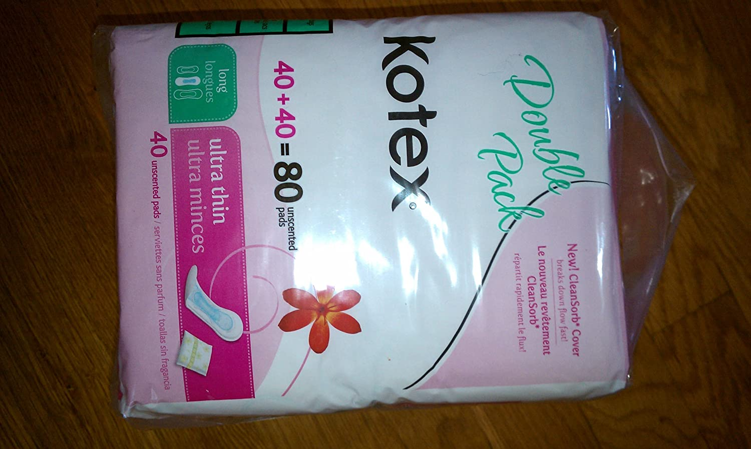 Amazon.com: Kotex Ultra Thin Long Longues, Case of Six-40 Count (240 Pads): Health & Personal Care
