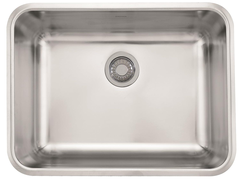 Franke gdx11023 grande 24 3 4 x 18 3 4 x 9 18 gauge undermount single bowl stainless steel kitchen sink amazon com