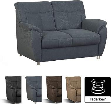 Cavadore 2er Sofa Sunuma 2 Sitzer Couch Grau Mit Federkern Passend Zur Polstergarnitur Sunuma Modernes Design Grosse 140 X 91 X 90 Cm Bxhxt Farbe Grau Amazon De Kuche Haushalt