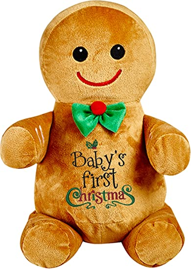 babys first christmas gingerbread man in a bowtie - Christmas Gingerbread Man