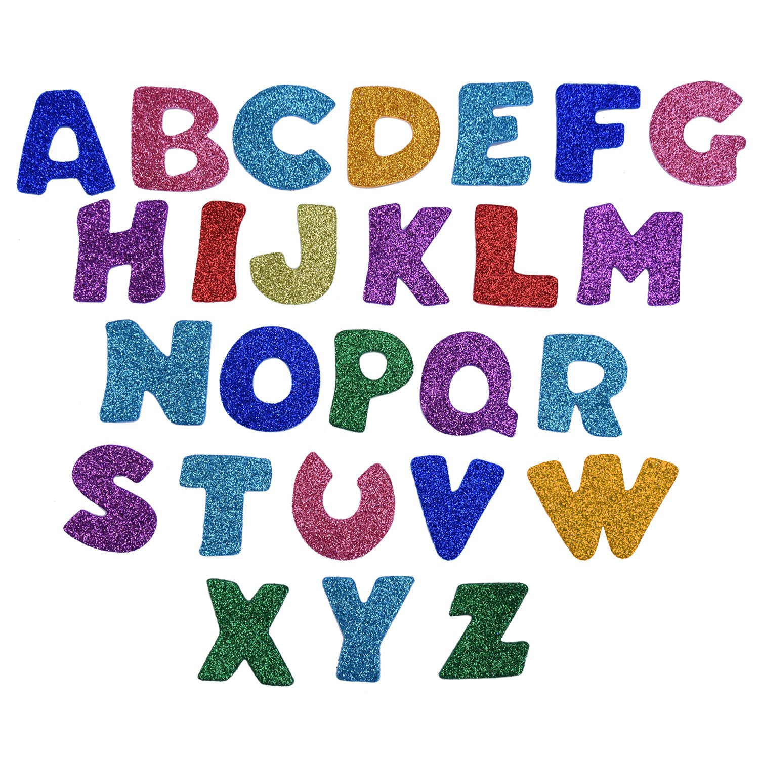 Glitter Foam Stickers Letter Sticker Self Adhesive Letters Assorted Colors 5 Sets