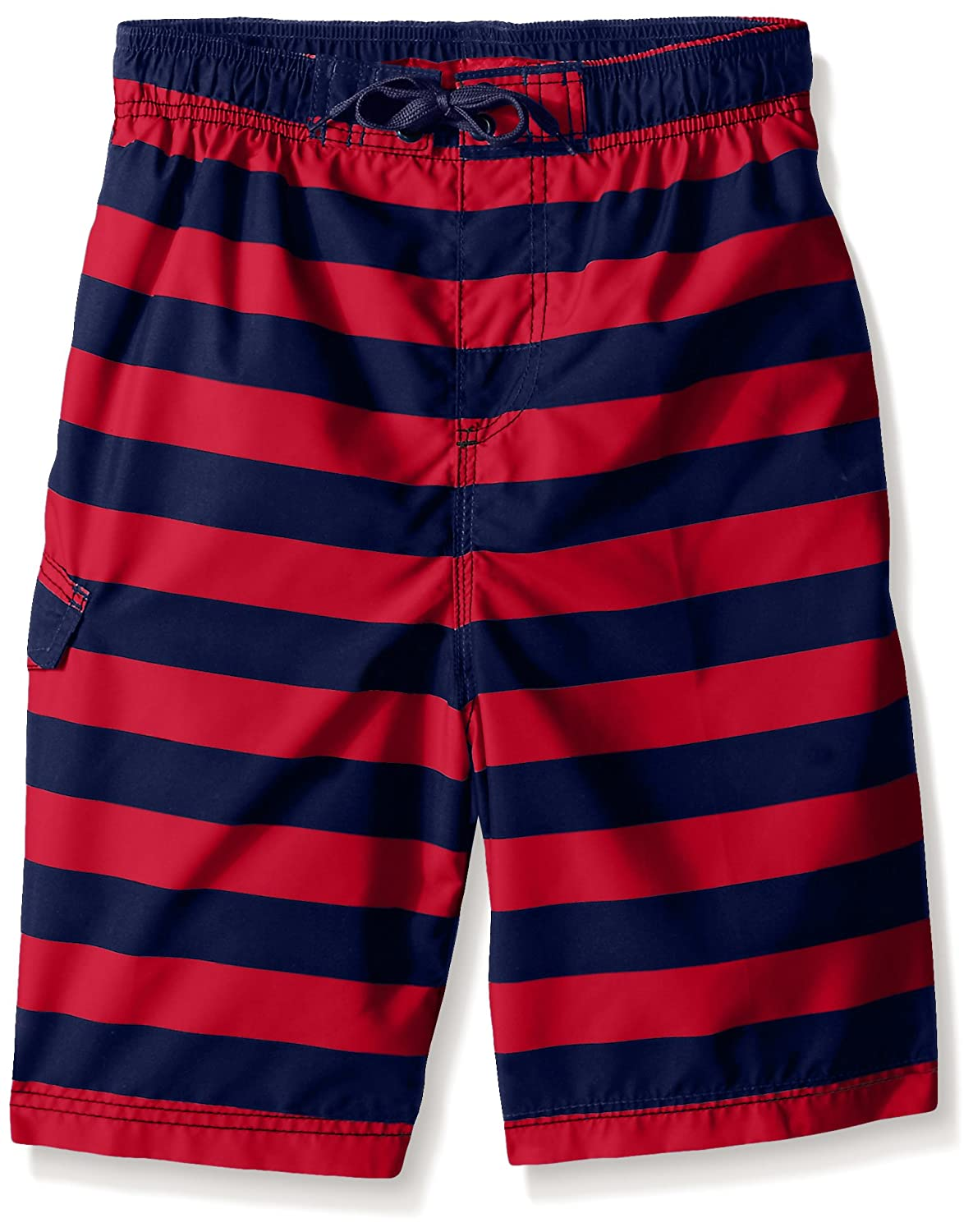 Kanu Surf Boys' Troy Stripe Swim Trunk 3419