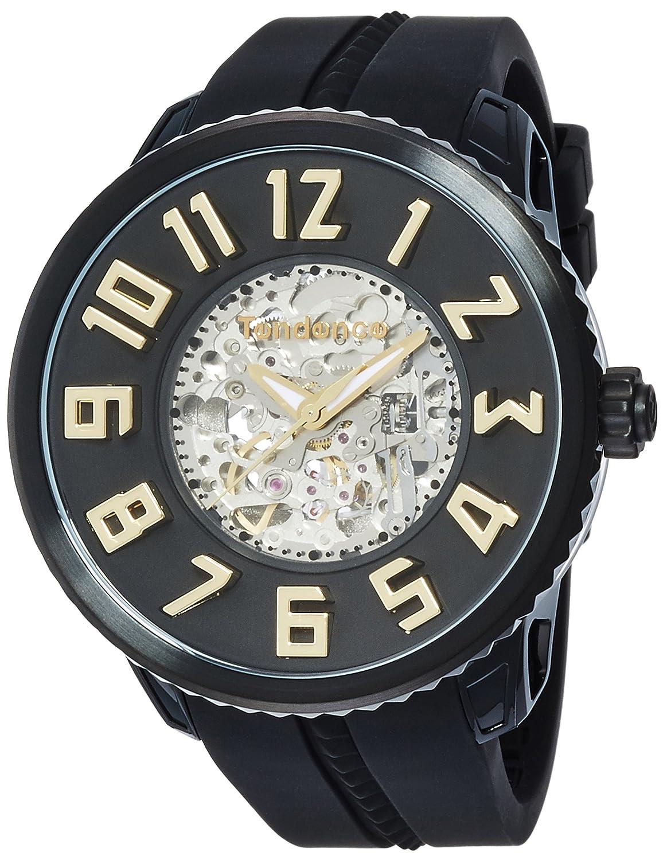 [テンデンス]TENDENCE 腕時計 スポーツスケルトン ブラック文字盤 自動巻 TG491005 【正規輸入品】 B01E72A4PC