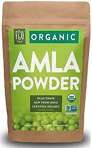 Organic Amla Powder (Amalaki) | 8oz Resealable Kraft Bag | 100% Raw from India | by FGO