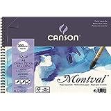 Bloco Espiralado Textura Fina A4 300g/m², Canson, 60807160, Montval, 12 Folhas