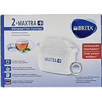 BRITA filterpatronen MaxTRA+ per 2 stuks verpakt, voor alle BRITA waterfilters ter vermindering van kalk, chloor en smaakstorende stoffen in leidingwater
