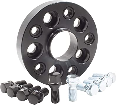 M14X1.5 SILVER BOLTS FITS MERCEDES 66.6 ALLOY WHEEL SPACERS 15mm BLACK X 4