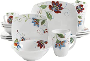 Gibson Home Altavista 16 Piece Dinnerware Set, White/Floral