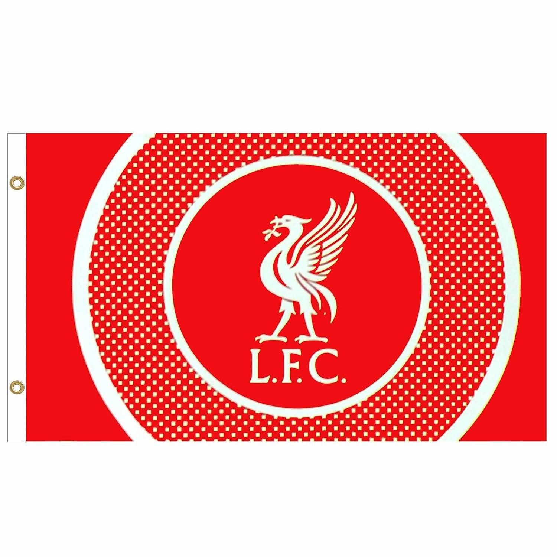 L.F.C Bandera oficial del Liverpool FC con escudo de fútbol (1,5 ...