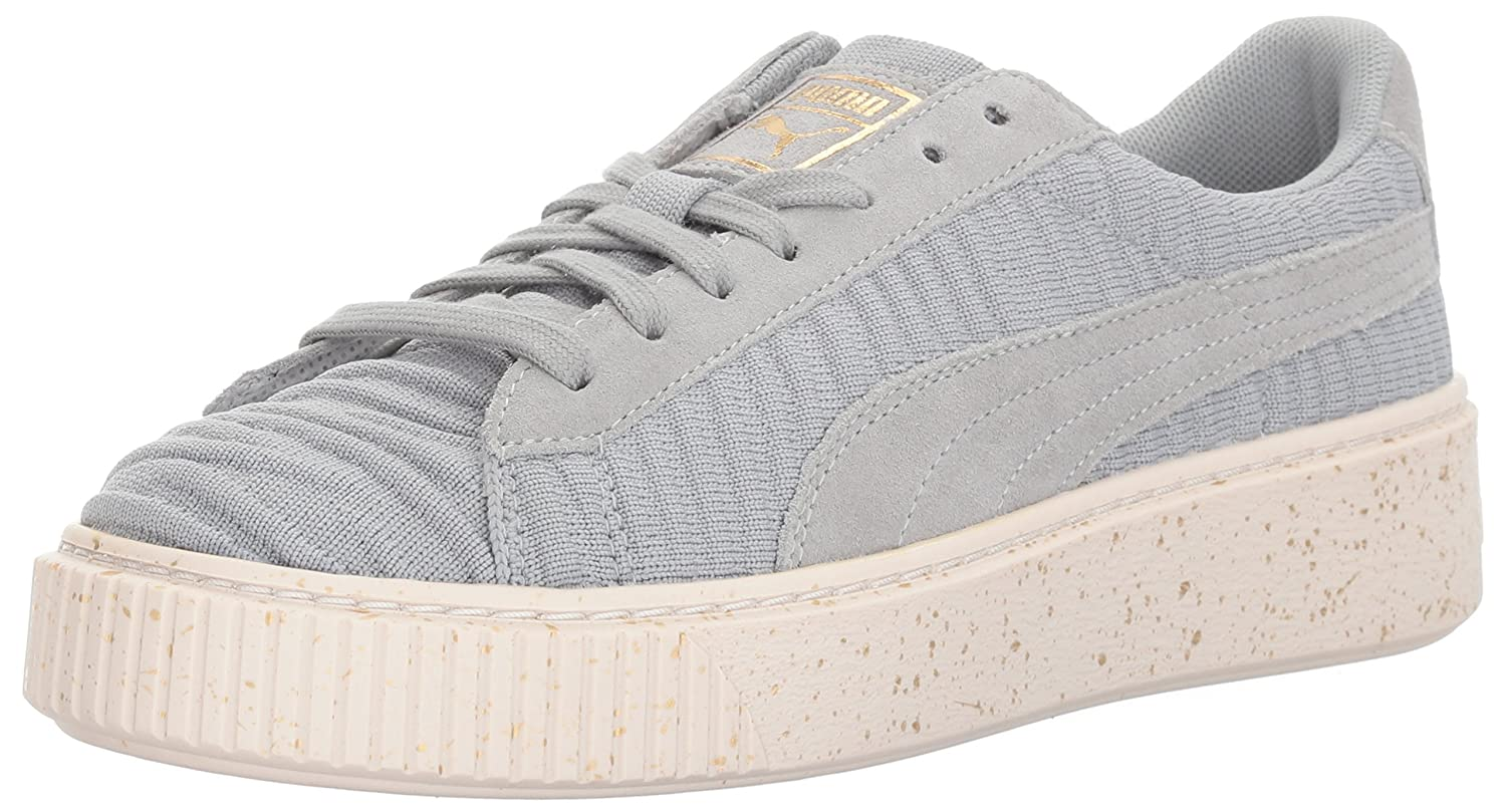 PUMA Women's Basket Platform OW Wn Sneaker B01N1SUWZJ 11 M US|Quarry-quarry-whisper White