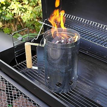 MOFRED® Barbacoa Barbacoa Chimenea arrancador rápido Parrilla carbón Encendedor carbón Quemador Alimentos