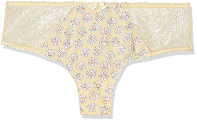 Lovable Daisy All Over, Shorts para Mujer, Amarillo (Stampa Margherite 0DL),