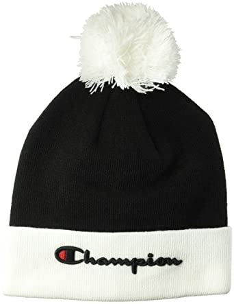 Amazon.com  Champion LIFE Men s Script Knit POM 7a1dbb2f7be