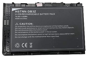 14.8V 52Wh HSTNN-DB3Z Reemplace la batería del portátil por HP EliteBook Folio 9470m (HSTNN-I10C) HSTNN-IB3Z 687945-001 BT04XL H4Q47AA: Amazon.es: ...
