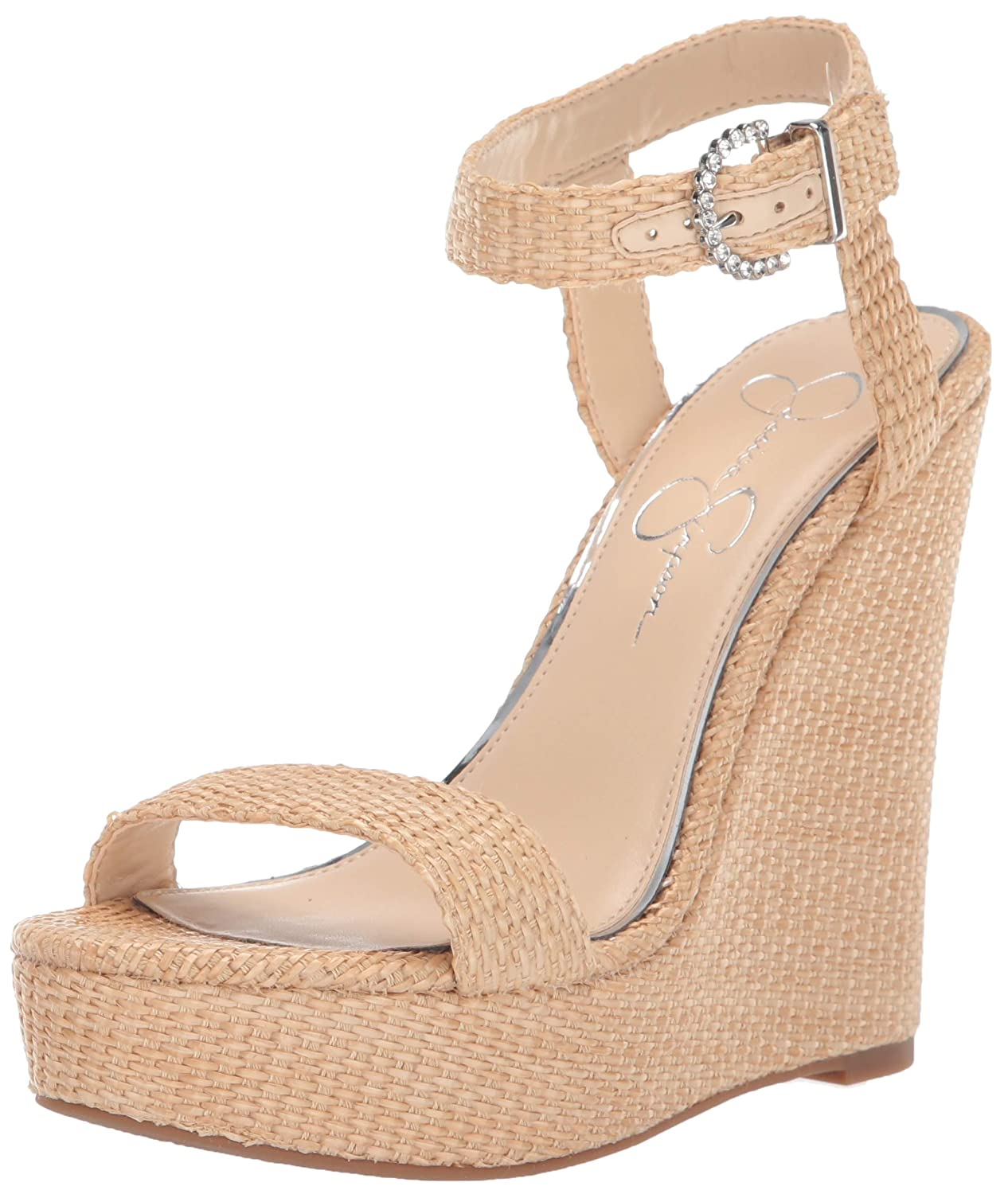 Natural Jessica Simpson Womens Taery Wedge Sandal
