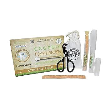 El Cepillo de Dientes Orgánico - VEGANO hecho de Miswak - Blanqueante de dientes natural -