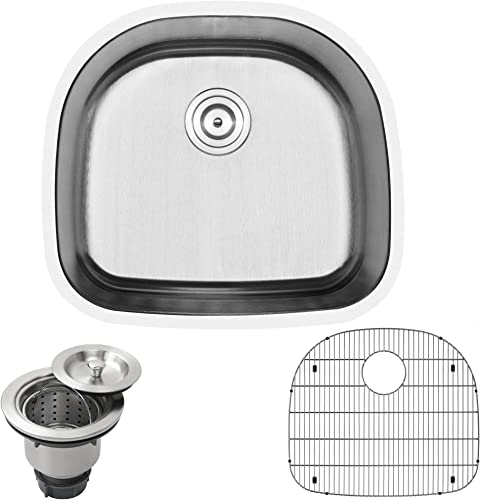 23-1 2 Ticor S405 Haven Series 16-Gauge Undermount Single Bowl Stainless Steel Kitchen Laundry Sink