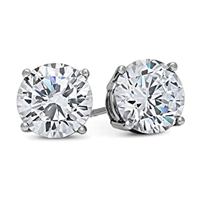 women halo s stud diamond cz earrings