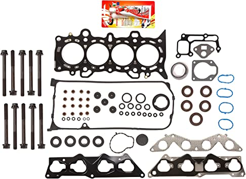 Head Gasket Set Head Bolts Fit For Honda Civic EX HX 1.7L VTEC D17A2 D17A6 2001-2005