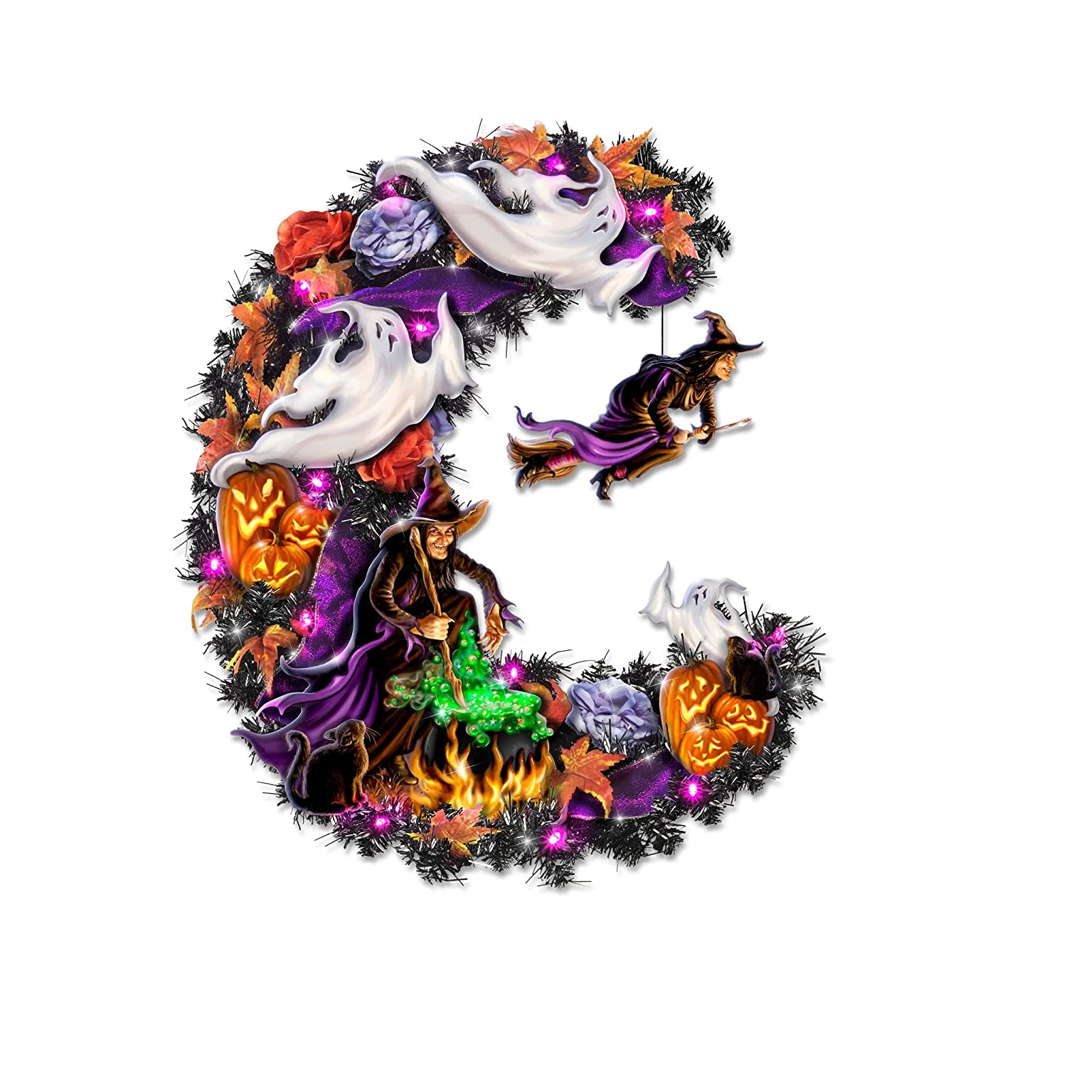 'Best Witches' Halloween Wreath By The Bradford Exchange