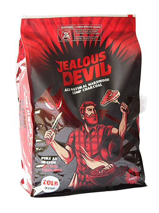Best Lump Charcoal of 2019 Jealous Devil All Natural Hardwood Lump Charcoal - 20LB