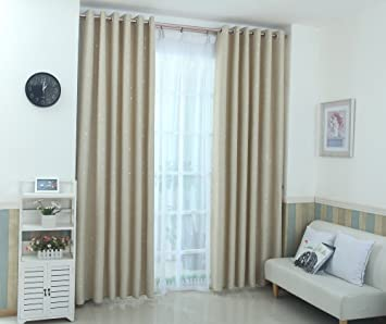 aucou blackout curtains for kids bedroom girls 63 inch curtains for living room