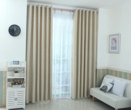 Aucou Blackout Curtains For Kids Bedroom, Girls 63 Inch Curtains For Living  Room