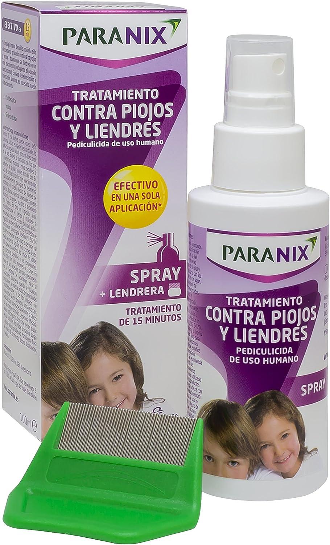 Paranix Spray. Tratamiento para Piojos y Liendres - Incluye Lendrera - Sin insecticidas - 100 ml
