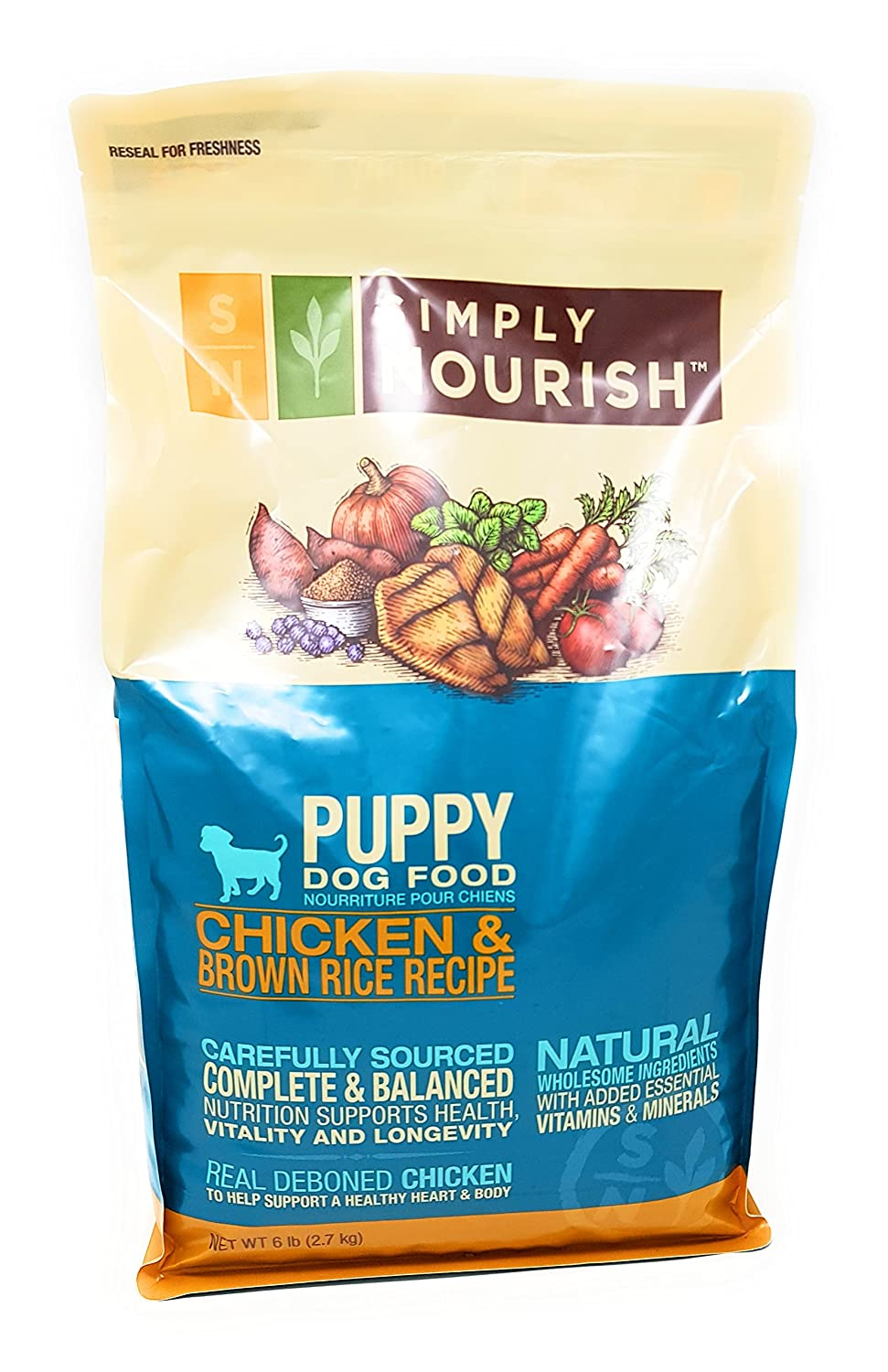 Amazon simply nourish puppy dry dog food natural chicken amazon simply nourish puppy dry dog food natural chicken brown rice 6lbs with especiales cosas mixing spatula pet supplies forumfinder Gallery