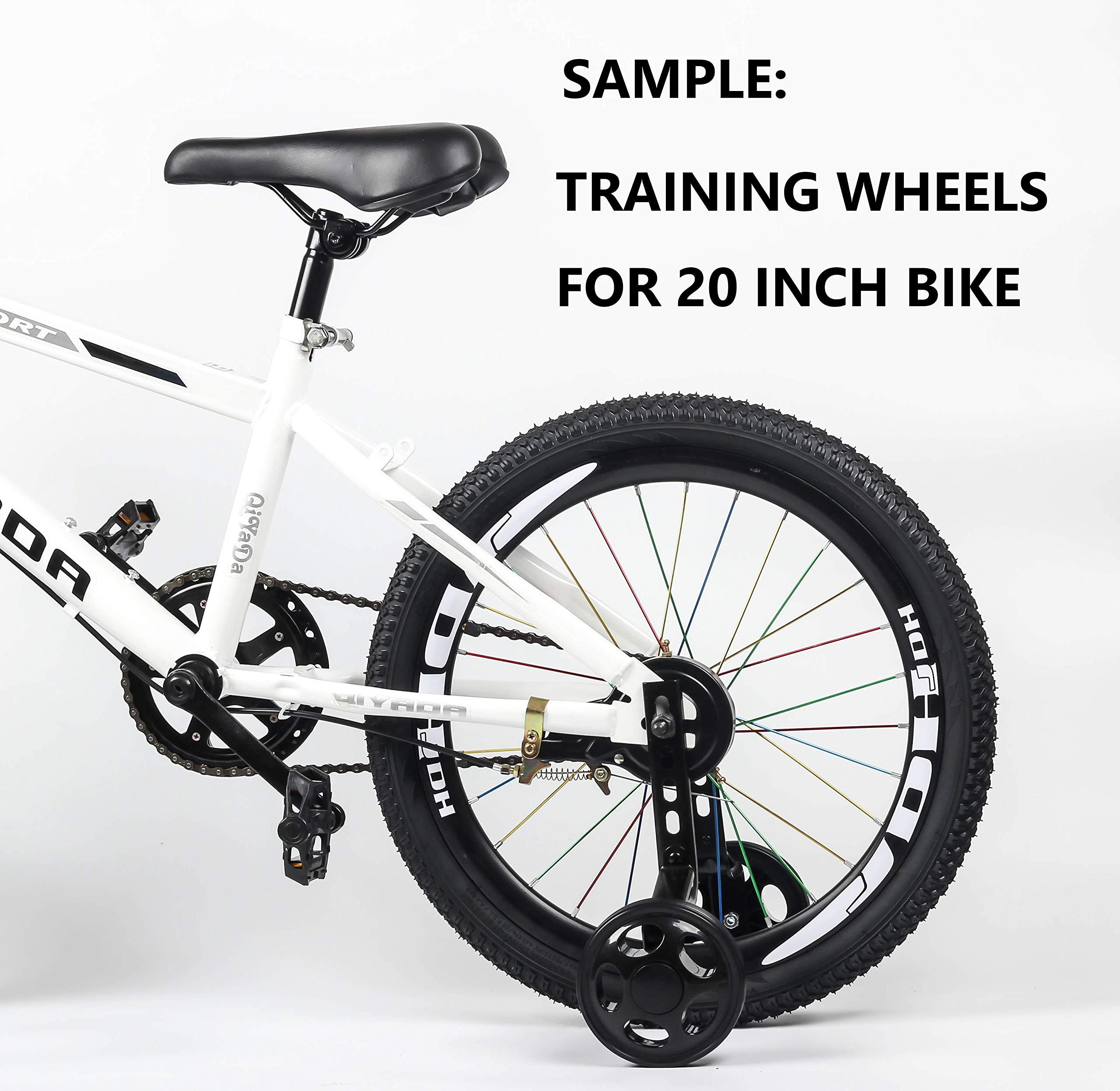 MOSHAY Training Wheels for Children's Bicycle stabiliser(for 14 16 18 20 inch Bike) (Black)