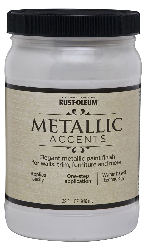 rust oleum 253611 metallic accents paint quart white pearl house