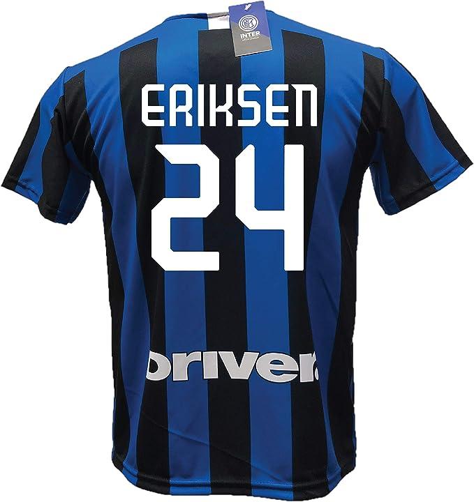 DND dandolfo Ciro Deuda Maillot Inter Vert Eau Eriksen 24 Football R/éplique autoris/ée 2019-2020 Away Tailles Enfant et Adulte