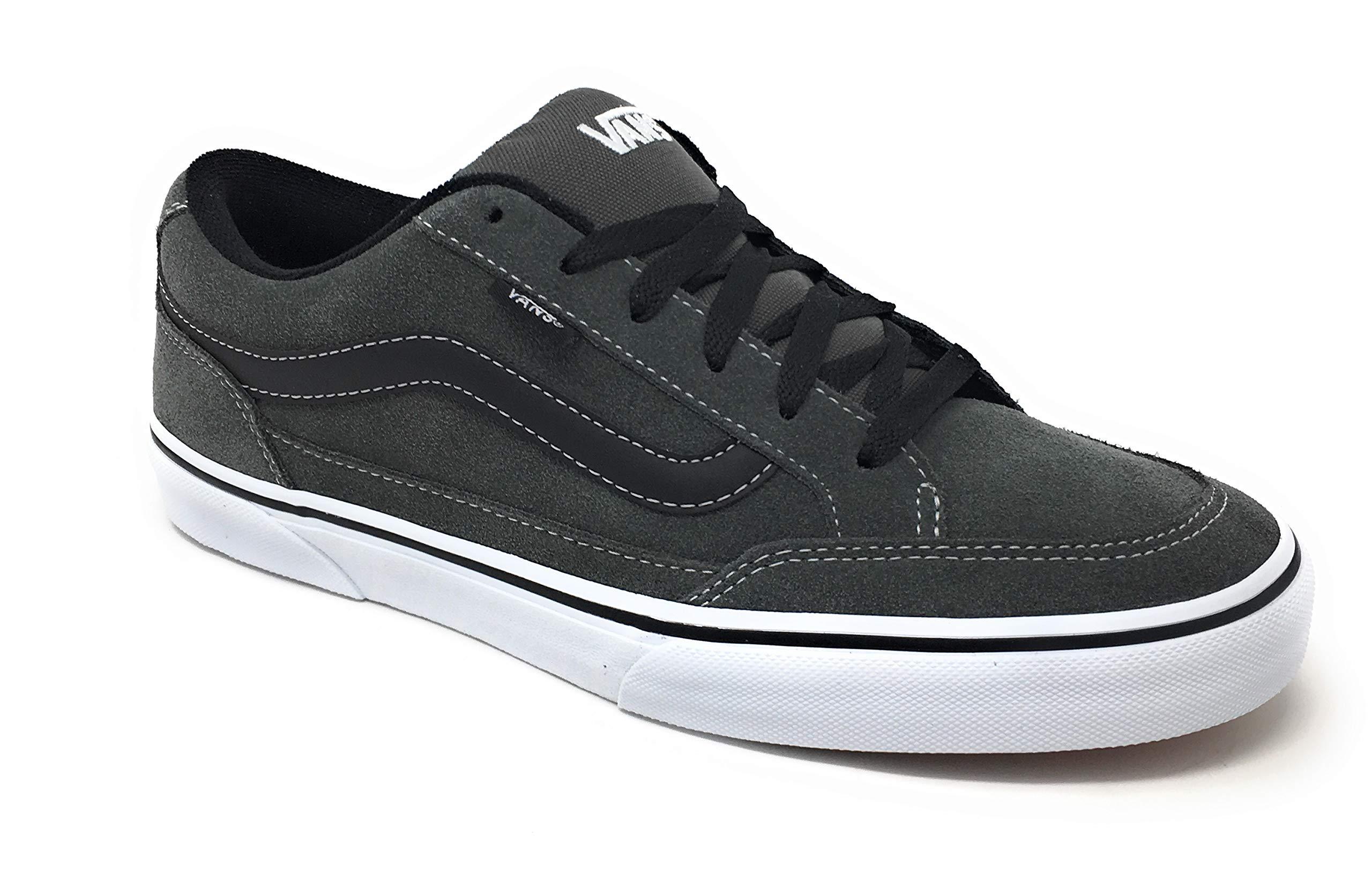 Vans Mens Bearcat Skate Shoes (6.5 M US, Charcoal/White/Black)