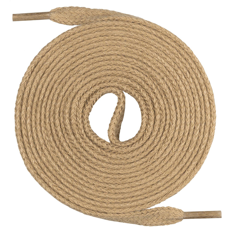 Un par de cordones Monte Swiss © Premium, 100% algodón, resistentes a roturas, 7 mm de ancho, entre 45 y 200cm de longitud 100% algodón Mount Swiss©