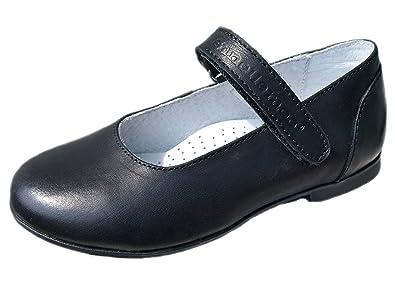 M/ädchen-Kinder-Ballerinas-Halbschuhe-Riemenschuhe-echt Leder-Schuhe mit Klettverschluss-f/ür Fest-Party-Kommunion-Konfirmation. ennellemoo/®