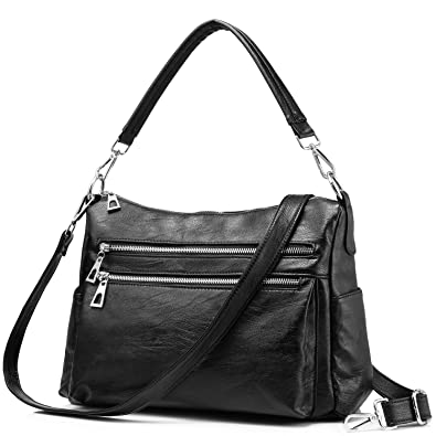 42177a42dd1 Image Unavailable. Image not available for. Color  Handbag for Women Ladies  Shoulder Bag Crossbody Purse Leather Lightweight Black