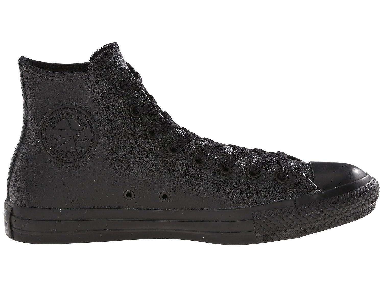 Converse Unisex All Star Leather Hi Sneaker B0778XPLL3 7.5 D(M) US|Black Mono