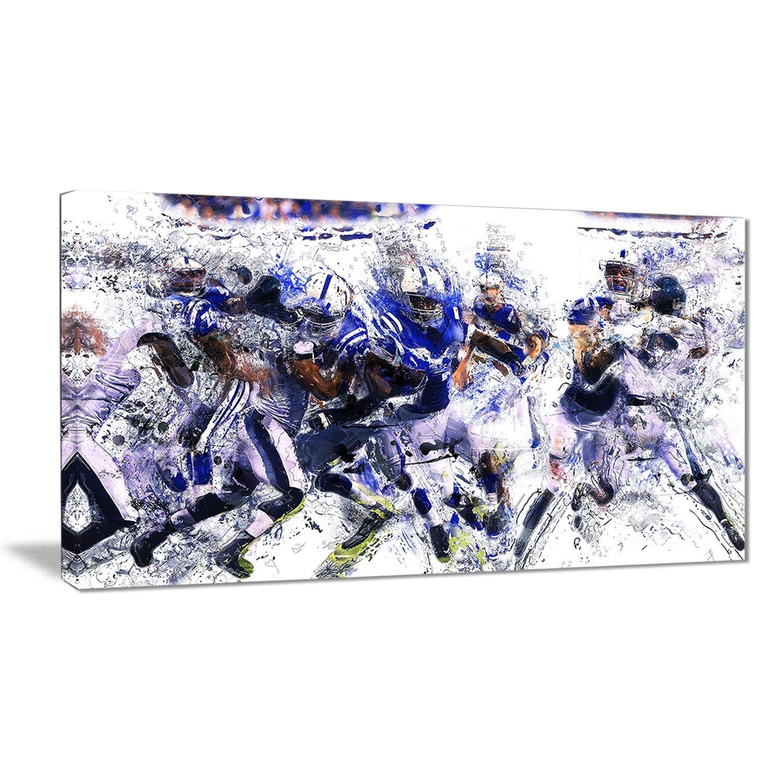 32x16 Digital art PT2506-32-16 Football Running Back to Score-Large Sport Wall Art