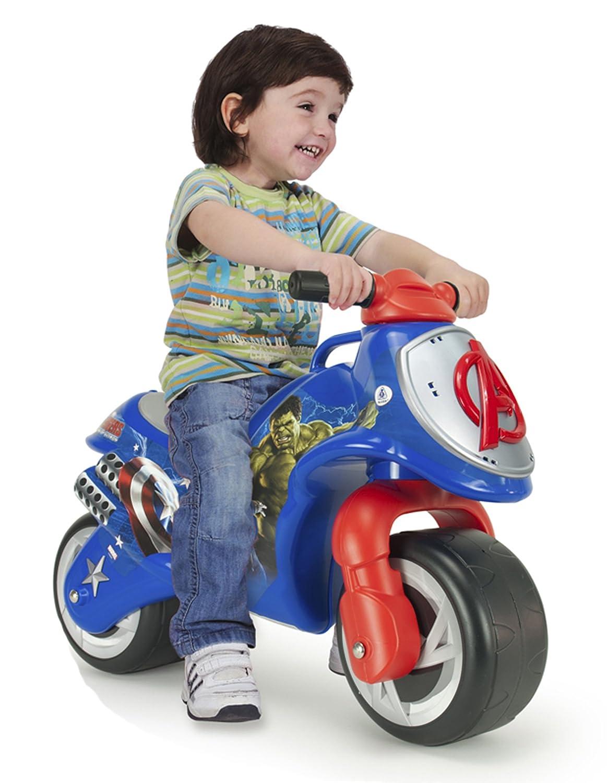 INJUSA Avengers - Moto correpasillos Neox Avengers para niños +18 Meses con decoración Waterproof Permanente y asa de Transporte (19007/000): Amazon.es: ...