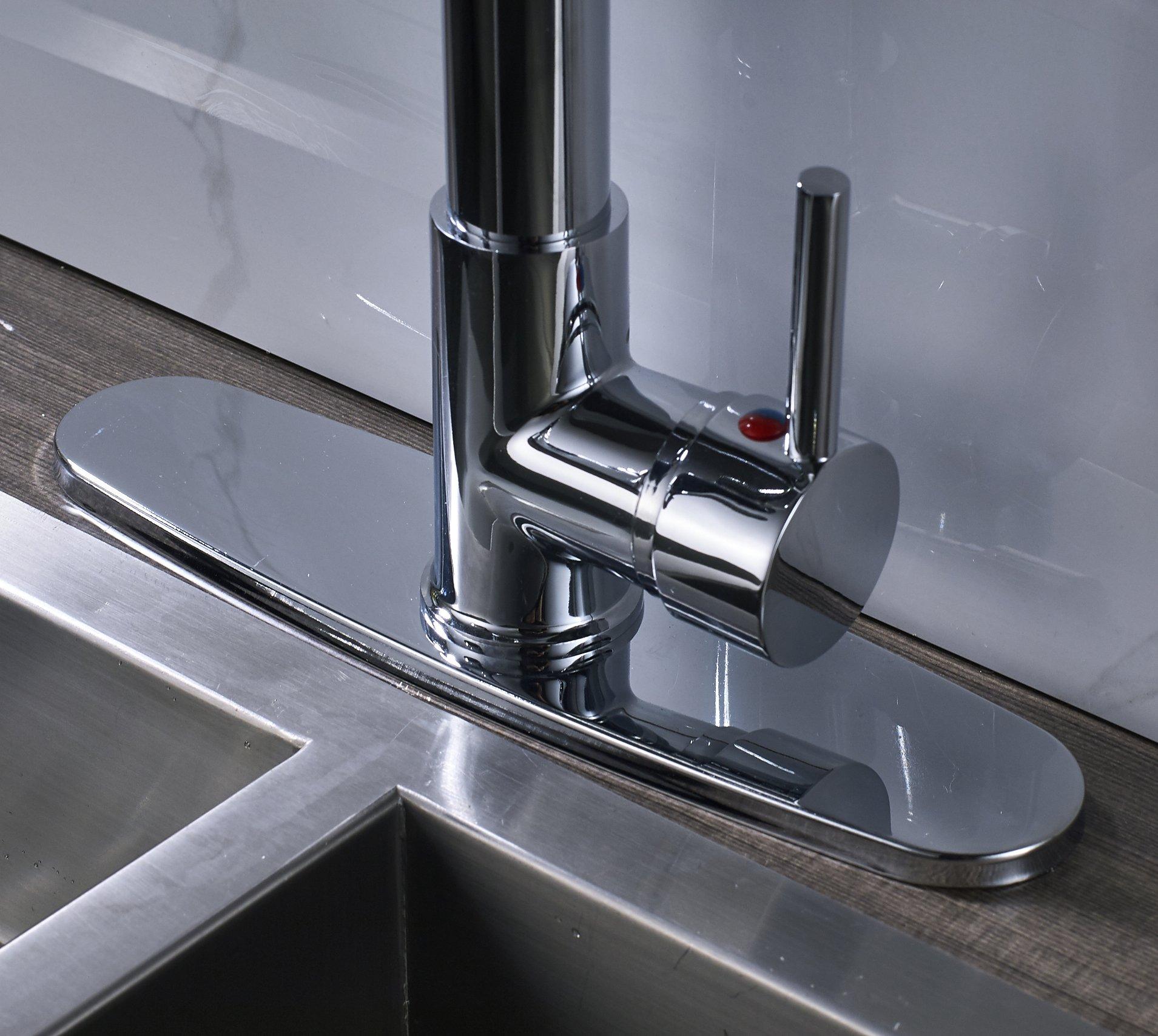 Rozin Chrome Finish LED Light Sprayer Kitchen Sink Faucet Spring Swivel Spout Mixer Tap by Rozin (Image #4)