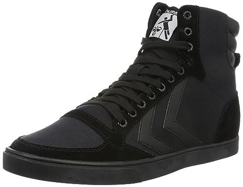 Hummel Slimmer Stadil Tonal High, Unisex Adults' Hi-Top Sneakers, Black,