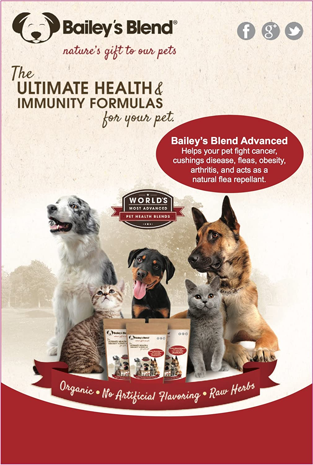 Cancer herbs for dogs - Amazon Com Bailey S Blend Peak Performance Formula Organic Herbal Supplement For Dogs 224 Grams Aids In Preventing Cancer Arthritis Cushing Disease