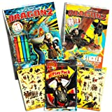 How to Train Your Dragon Ultimate Coloring and Activity Super Set -- 2 Coloring Books, Stickers, Crayons and Play Pack (Party Supplies)