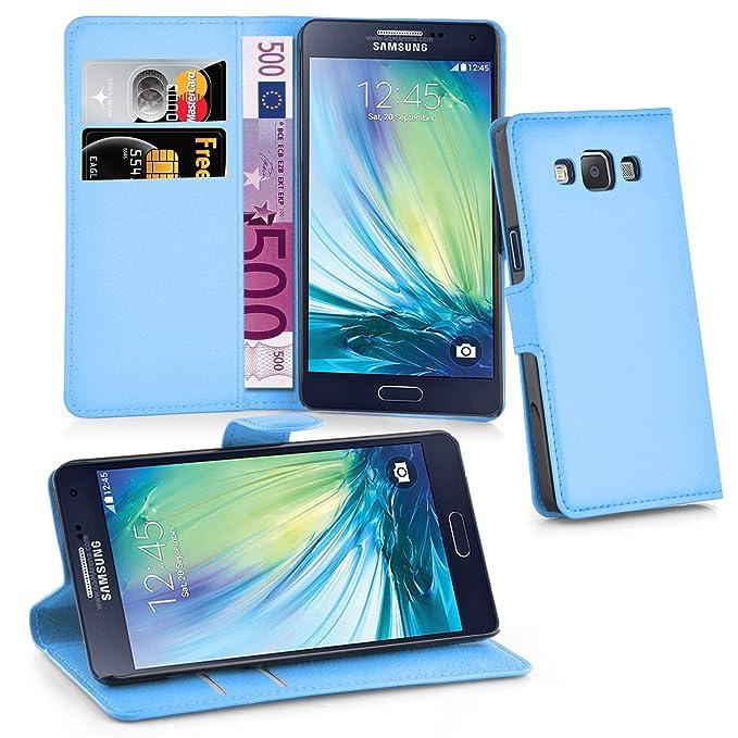 Cadorabo Funda Libro para Samsung Galaxy A3 2015 en Azul Pastel – Cubierta Proteccíon con Cierre Magnético, Tarjetero y Función de Suporte – Etui Case ...