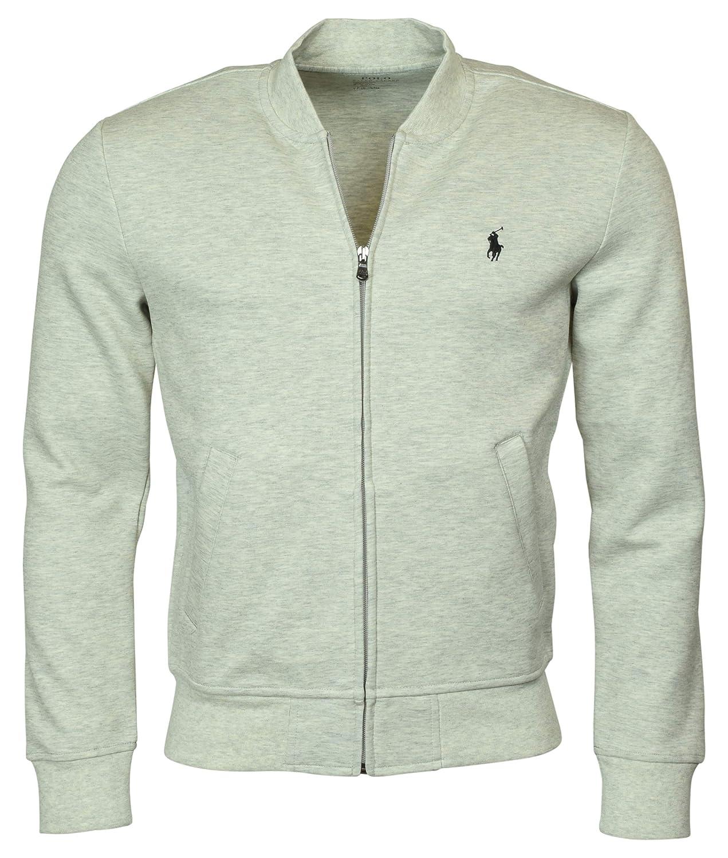 5de3d433 Polo Ralph Lauren Men's Double Knit Long Sleeve Knit Bomber Jacket, Black  at Amazon Men's Clothing store: