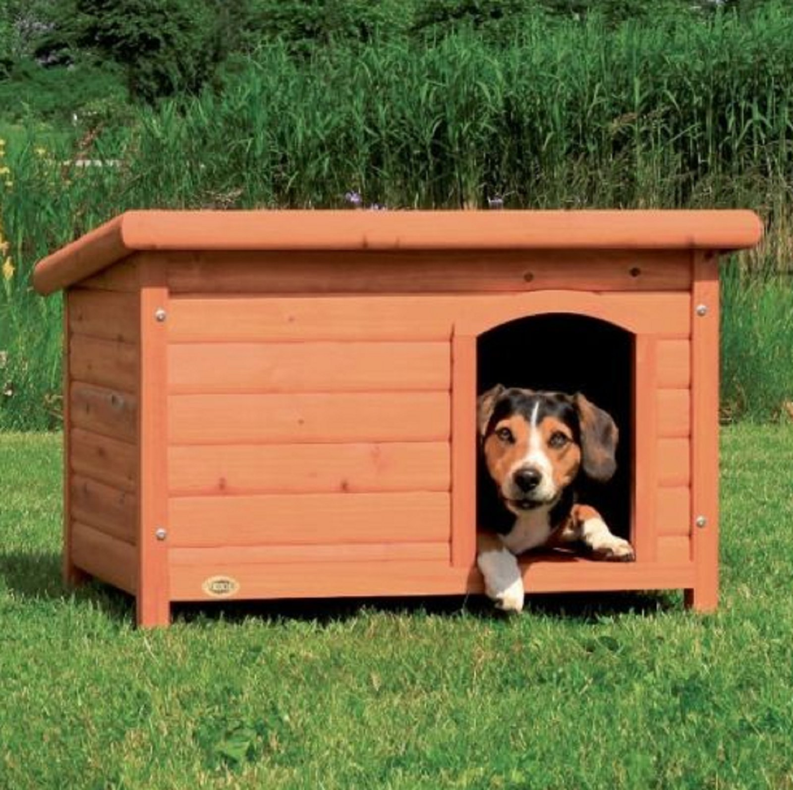 NEW! Outdoor Dog House Medium Pet Houses Weather Resistant Cabin Shelter Dogs Indoor