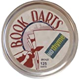 Book Darts Line Markers 125 Count Tin Bronze